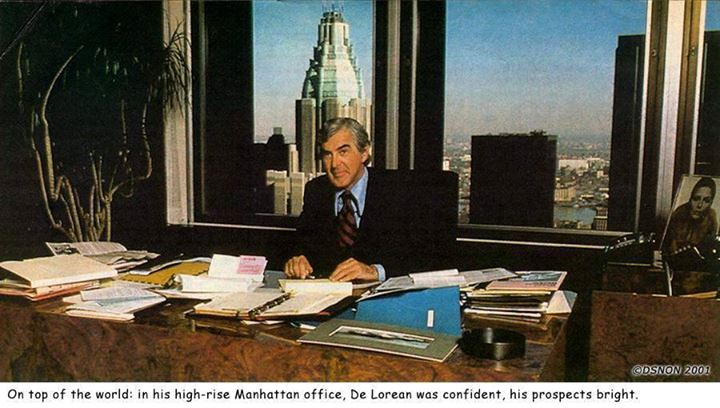 John Delorean a new yorki irodájában