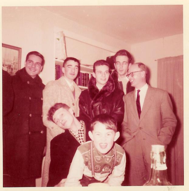 Magyar diakokkal 1957-ben New Hampshirben