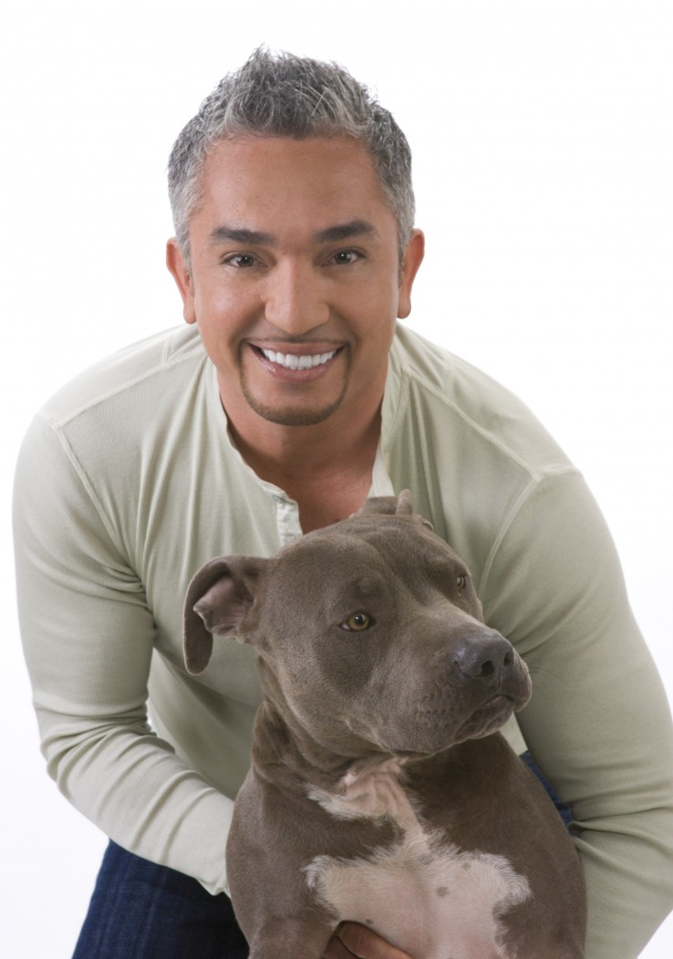 Cesar Millan and Junior