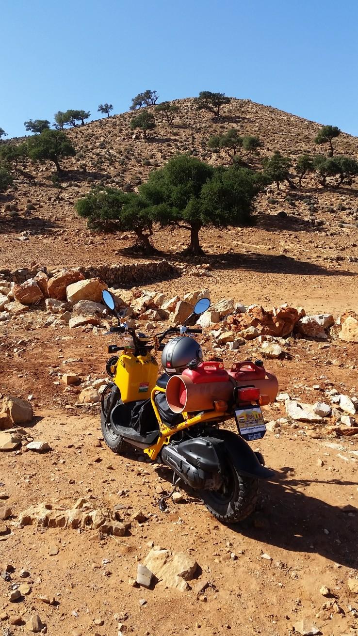 Kakuk András a Hunda Zoomer robogóval tette meg a Budapest-Bamako távot