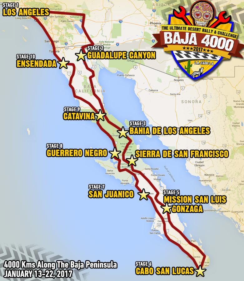 Baja4000 car race